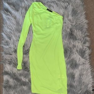 Boohoo Neon yellow dress